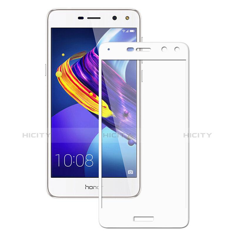 Huawei Y6 (2017)用強化ガラス フル液晶保護フィルム ファーウェイ ホワイト