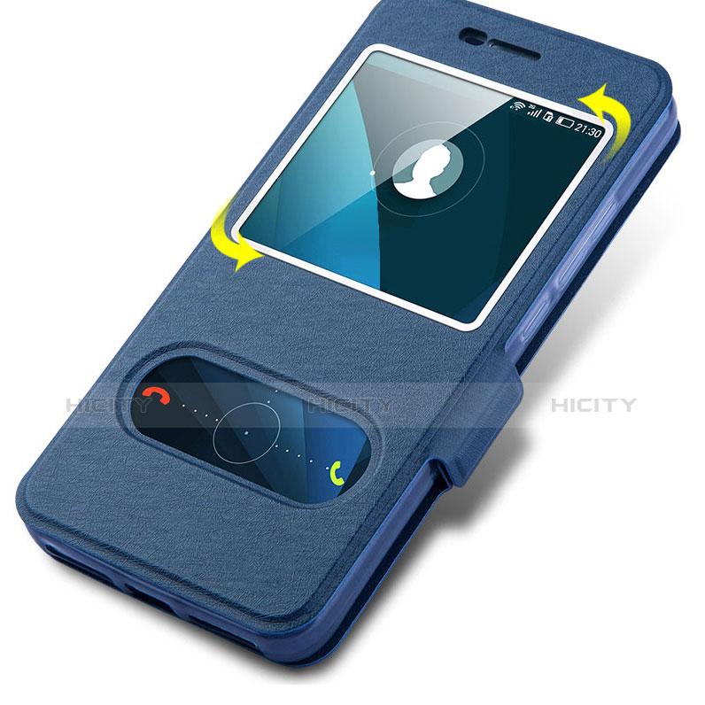 Huawei Y6 Pro用手帳型 レザーケース スタンド L01 ファーウェイ ネイビー