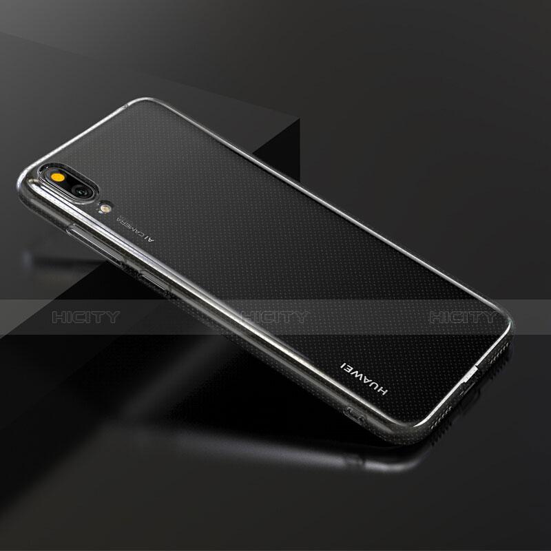 Huawei Y7 Pro (2019)用極薄ソフトケース シリコンケース 耐衝撃 全面保護 クリア透明 アンド液晶保護フィルム ファーウェイ クリア