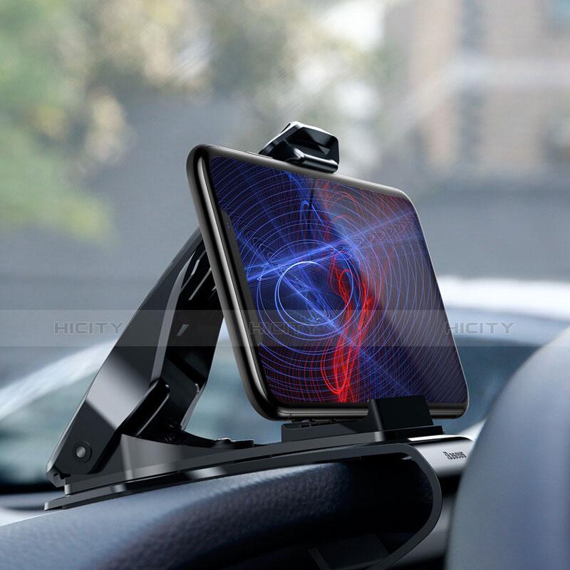 スマートフォン車載ホルダー 車載スタンド クリップで車のダッシュボードに直接取り付け ユニバーサル T03 ブラック