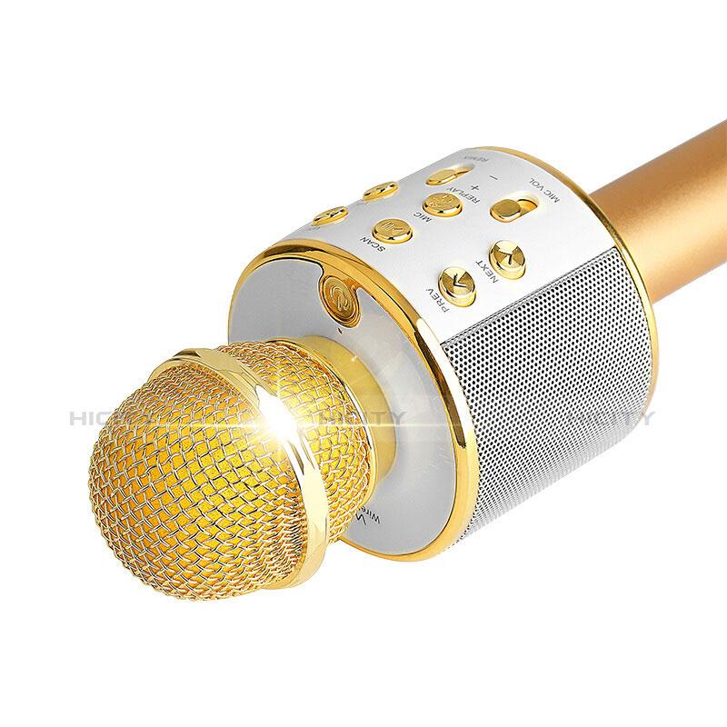 Mini マイク カラオケ ミニ マイク 3.5mmプラグマイク M06 ゴールド