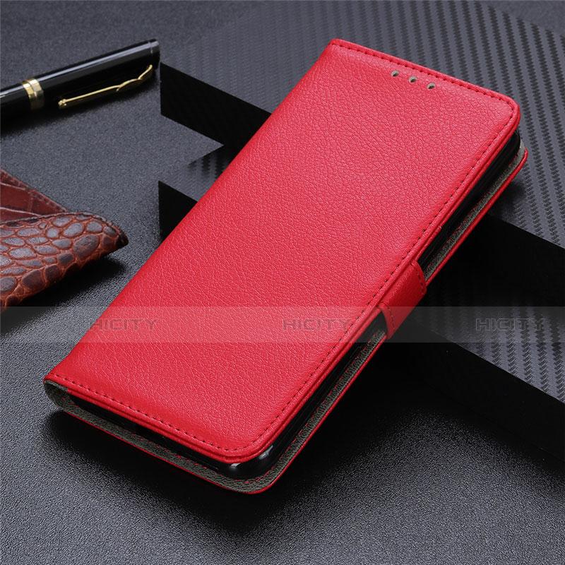 Motorola Moto G9 Plus用手帳型 レザーケース スタンド カバー L03 モトローラ レッド