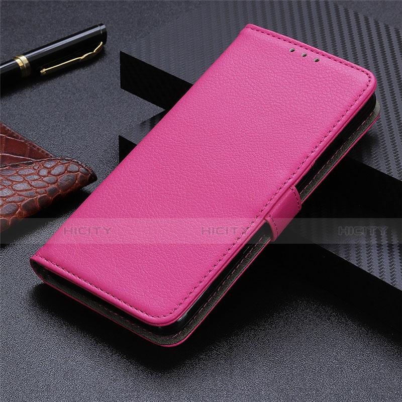 Motorola Moto G9 Plus用手帳型 レザーケース スタンド カバー L03 モトローラ ローズレッド