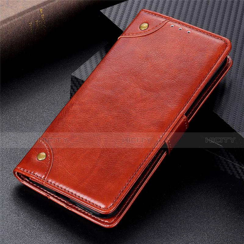 Motorola Moto G9 Plus用手帳型 レザーケース スタンド カバー L06 モトローラ ライト・ブラウン