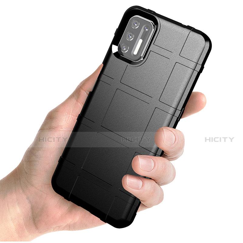 Motorola Moto G9 Plus用360度 フルカバー極薄ソフトケース シリコンケース 耐衝撃 全面保護 バンパー モトローラ