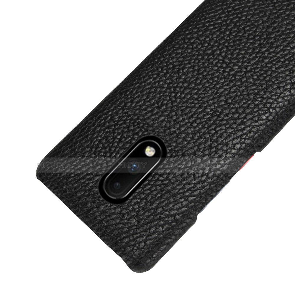 OnePlus 7用ケース 高級感 手触り良いレザー柄 S01 OnePlus