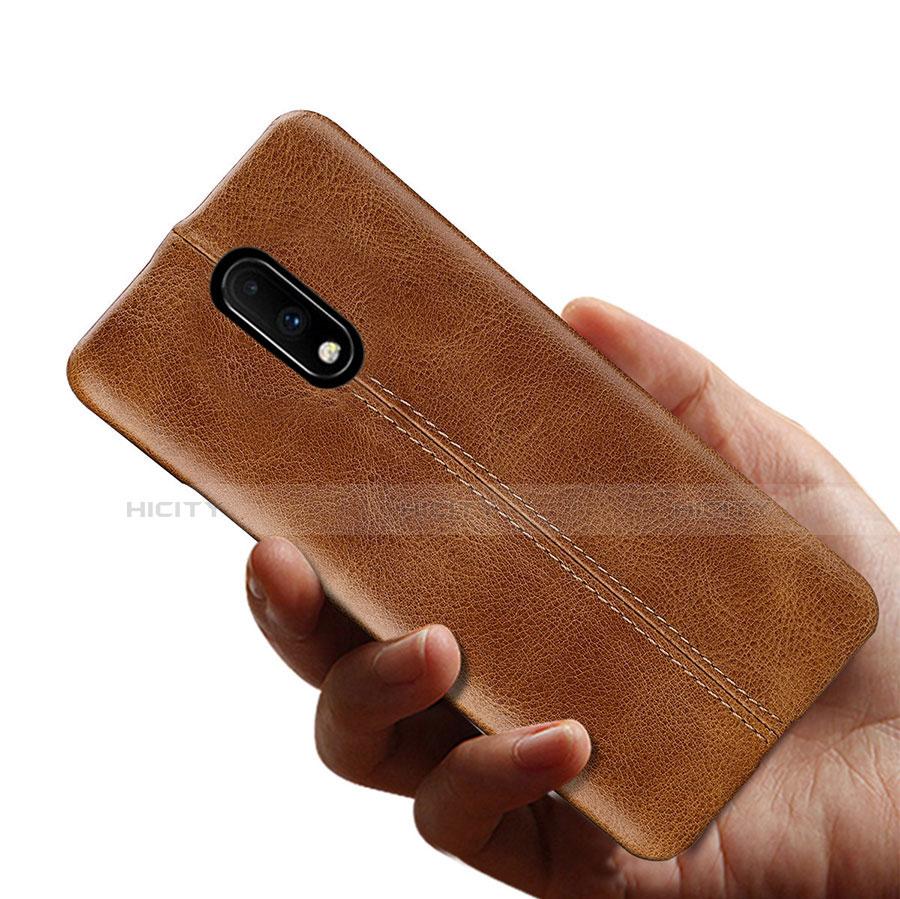 OnePlus 7用ケース 高級感 手触り良いレザー柄 OnePlus