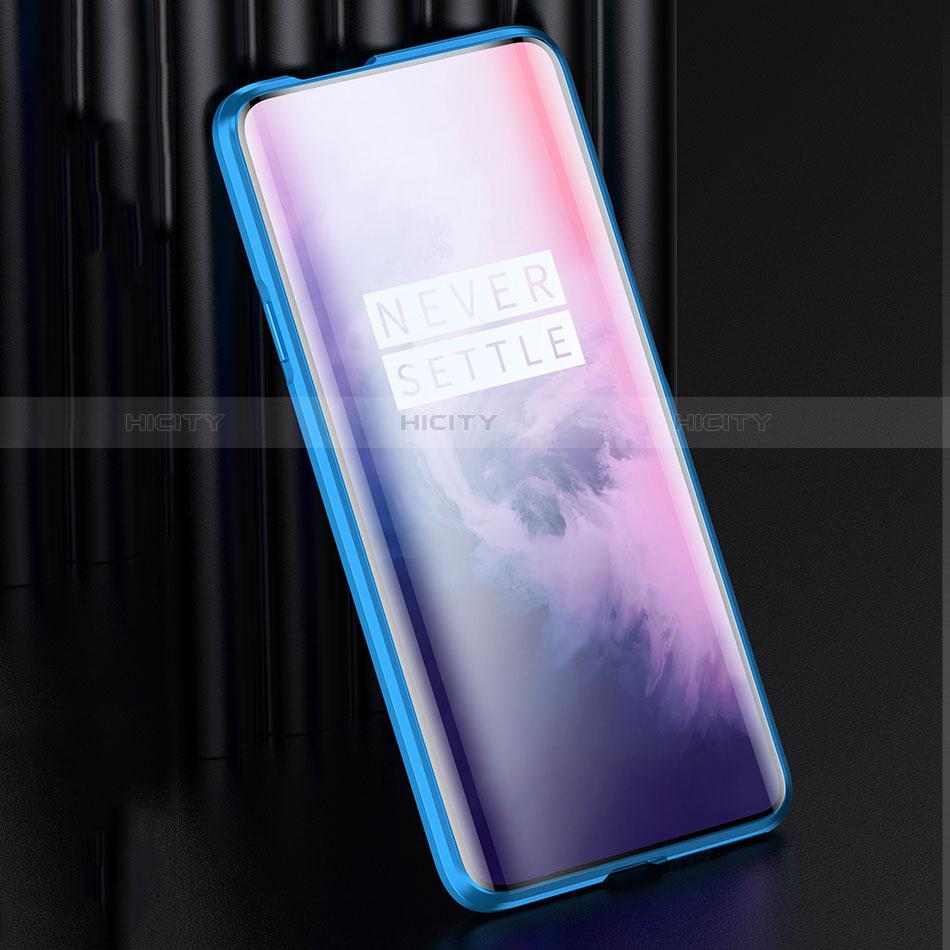 OnePlus 7 Pro用ケース 高級感 手触り良い アルミメタル 製の金属製 バンパー 鏡面 カバー OnePlus
