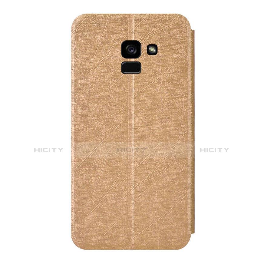 Samsung Galaxy A5 (2018) A530F用手帳型 レザーケース スタンド サムスン ゴールド