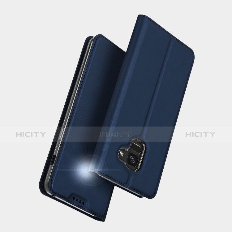 Samsung Galaxy A5 (2018) A530F用手帳型 レザーケース スタンド L01 サムスン ネイビー