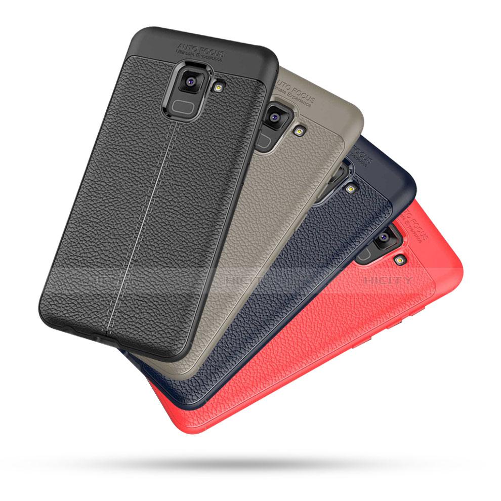 Samsung Galaxy A5 (2018) A530F用シリコンケース ソフトタッチラバー レザー柄 サムスン