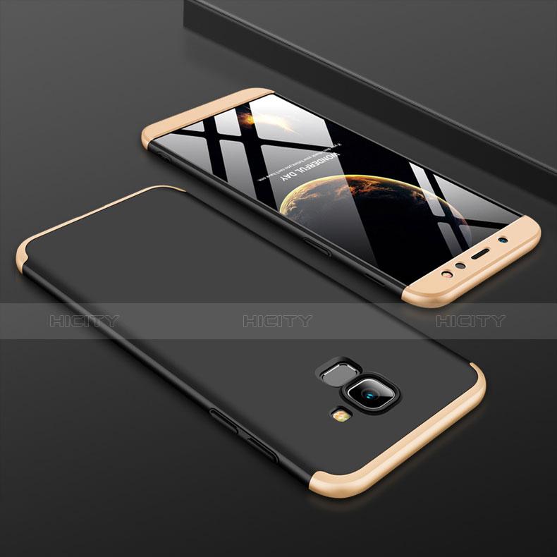 Samsung Galaxy A6 (2018)用ハードケース プラスチック 質感もマット 前面と背面 360度 フルカバー サムスン ゴールド・ブラック