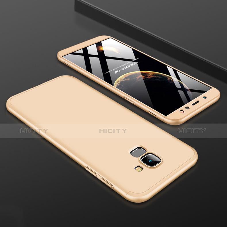 Samsung Galaxy A6 (2018)用ハードケース プラスチック 質感もマット 前面と背面 360度 フルカバー サムスン ゴールド