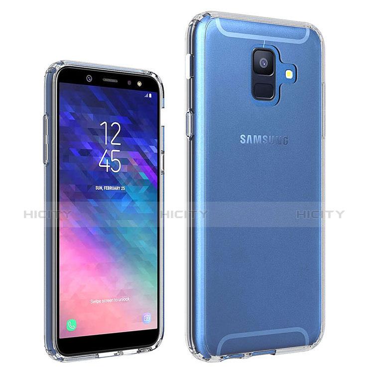 Samsung Galaxy A6 (2018)用極薄ソフトケース シリコンケース 耐衝撃 全面保護 クリア透明 カバー サムスン クリア