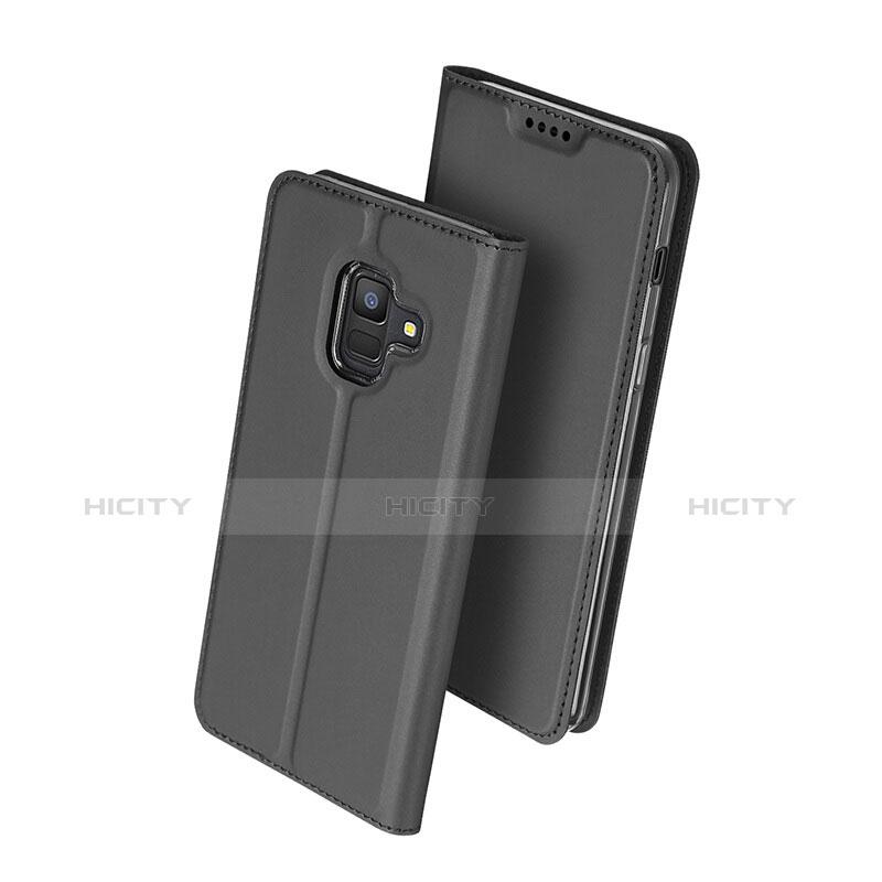 Samsung Galaxy A6 (2018)用手帳型 レザーケース スタンド サムスン ブラック
