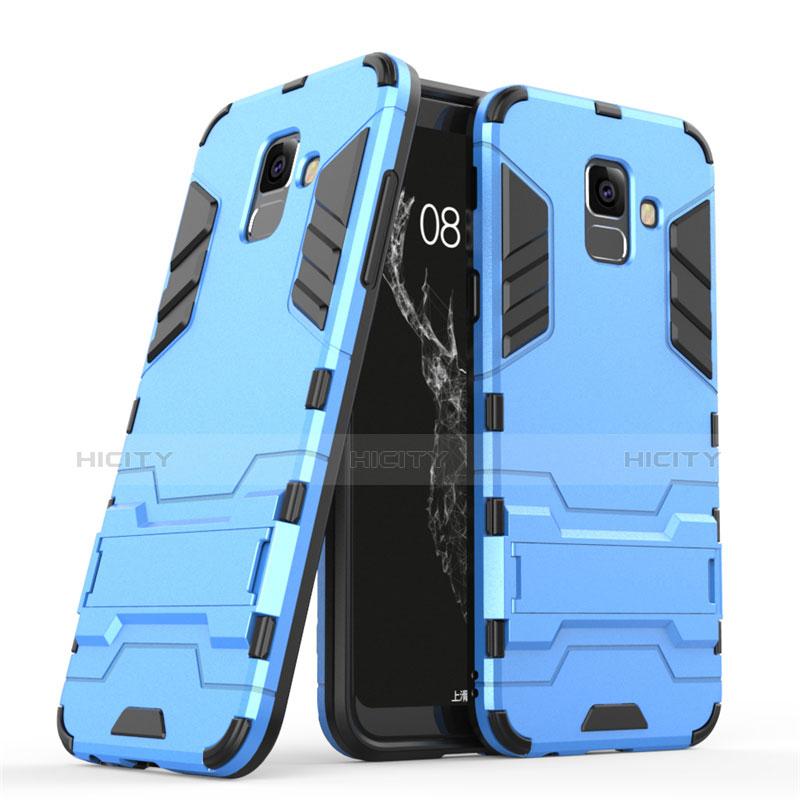 Samsung Galaxy A6 (2018)用ハイブリットバンパーケース スタンド プラスチック 兼シリコーン サムスン ネイビー