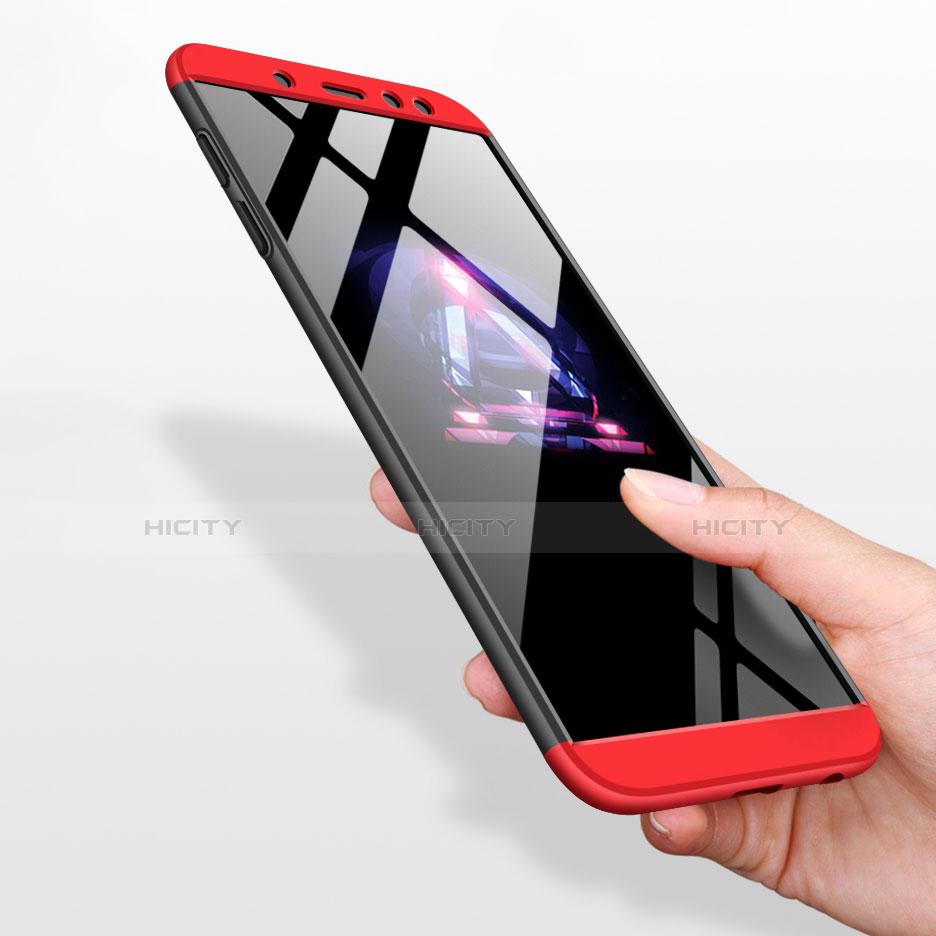 Samsung Galaxy A6 (2018)用ハードケース プラスチック 質感もマット 前面と背面 360度 フルカバー Q01 サムスン レッド・ブラック