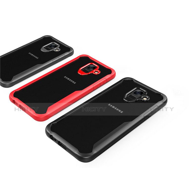 Samsung Galaxy A6 (2018)用ハイブリットバンパーケース クリア透明 プラスチック 鏡面 カバー サムスン