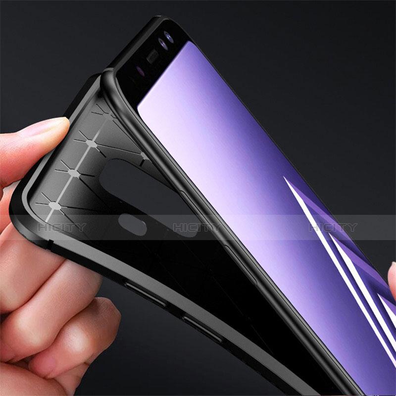 Samsung Galaxy A6 (2018)用シリコンケース ソフトタッチラバー ツイル カバー サムスン
