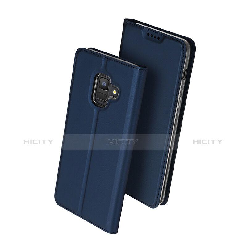 Samsung Galaxy A6 (2018) Dual SIM用手帳型 レザーケース スタンド サムスン ネイビー