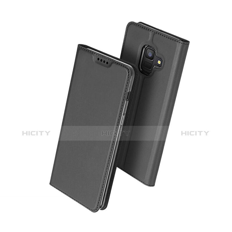 Samsung Galaxy A6 (2018) Dual SIM用手帳型 レザーケース スタンド サムスン ブラック