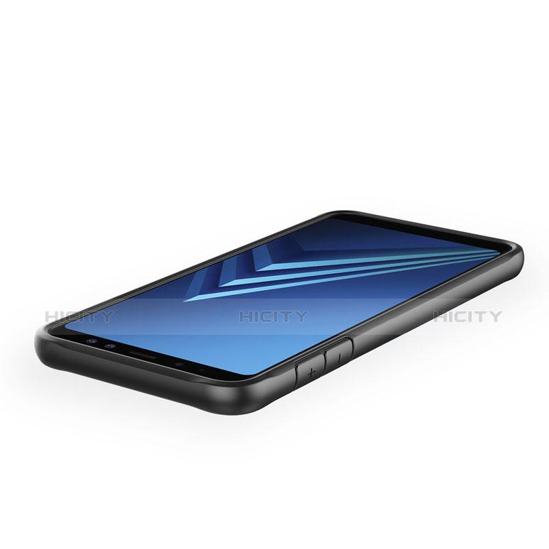 Samsung Galaxy A6 (2018) Dual SIM用ハイブリットバンパーケース クリア透明 プラスチック 鏡面 カバー サムスン
