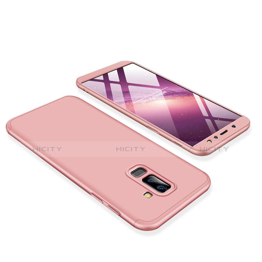 Samsung Galaxy A6 Plus用ハードケース プラスチック 質感もマット 前面と背面 360度 フルカバー サムスン ピンク