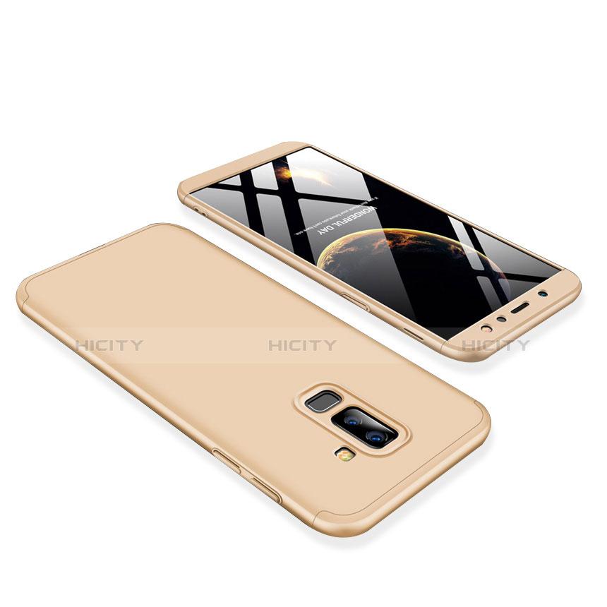Samsung Galaxy A6 Plus用ハードケース プラスチック 質感もマット 前面と背面 360度 フルカバー サムスン ゴールド