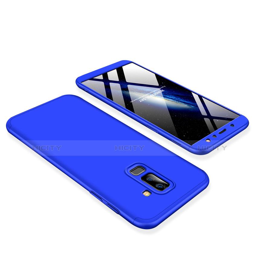 Samsung Galaxy A6 Plus用ハードケース プラスチック 質感もマット 前面と背面 360度 フルカバー サムスン ネイビー