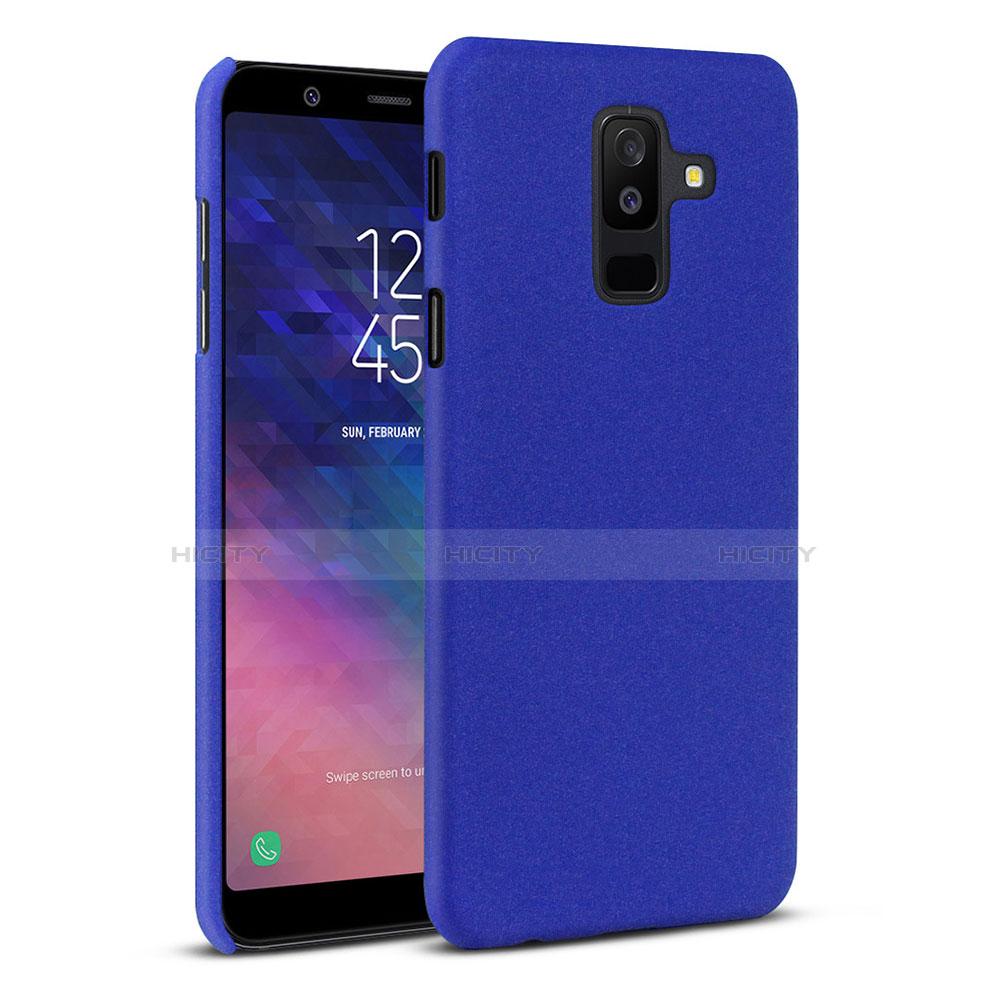 Samsung Galaxy A6 Plus用ハードケース プラスチック カバー サムスン ネイビー