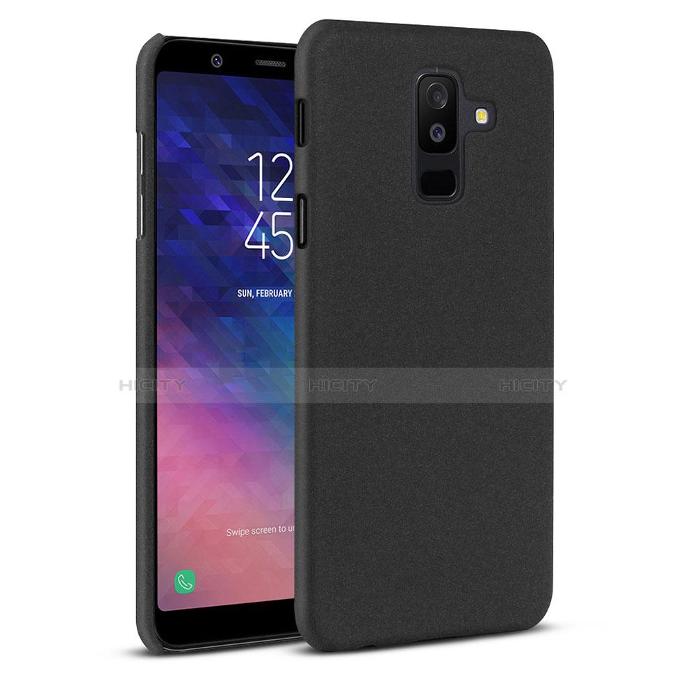 Samsung Galaxy A6 Plus用ハードケース プラスチック カバー サムスン ブラック