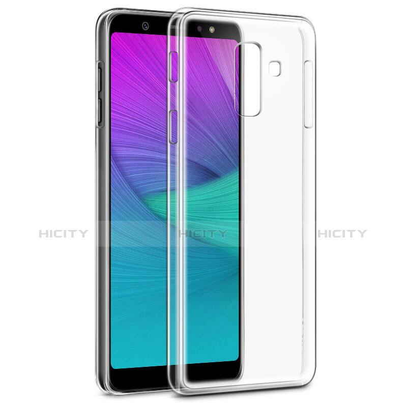 Samsung Galaxy A6 Plus用極薄ソフトケース シリコンケース 耐衝撃 全面保護 クリア透明 カバー サムスン クリア