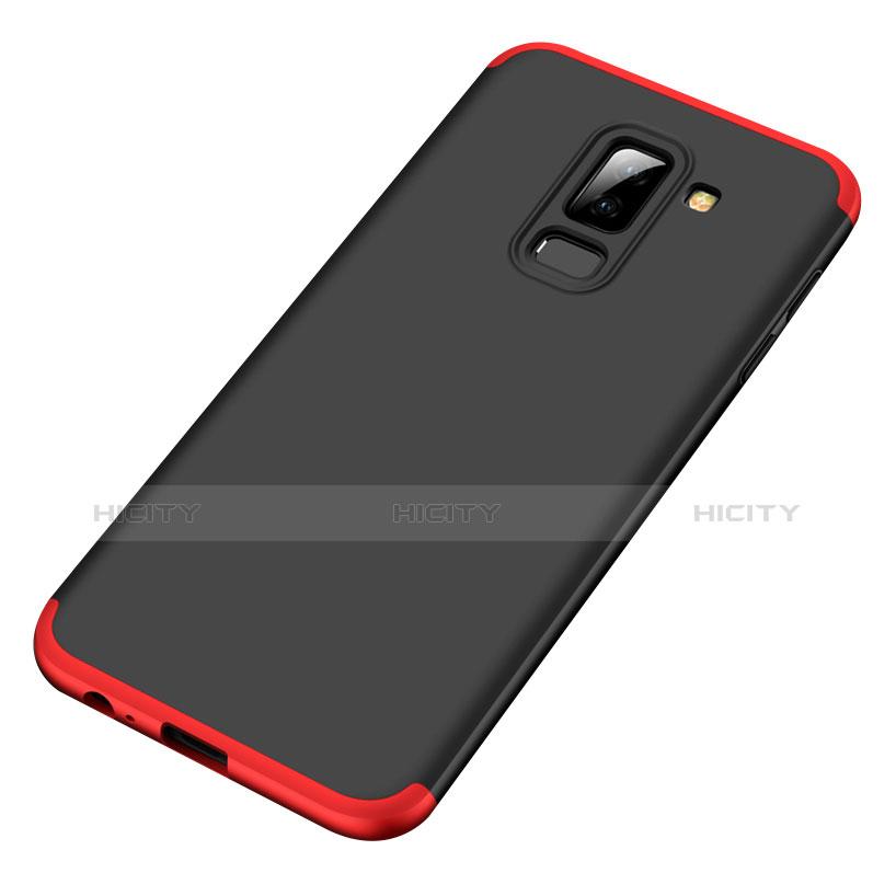 Samsung Galaxy A6 Plus用ハードケース プラスチック 質感もマット 前面と背面 360度 フルカバー サムスン レッド・ブラック