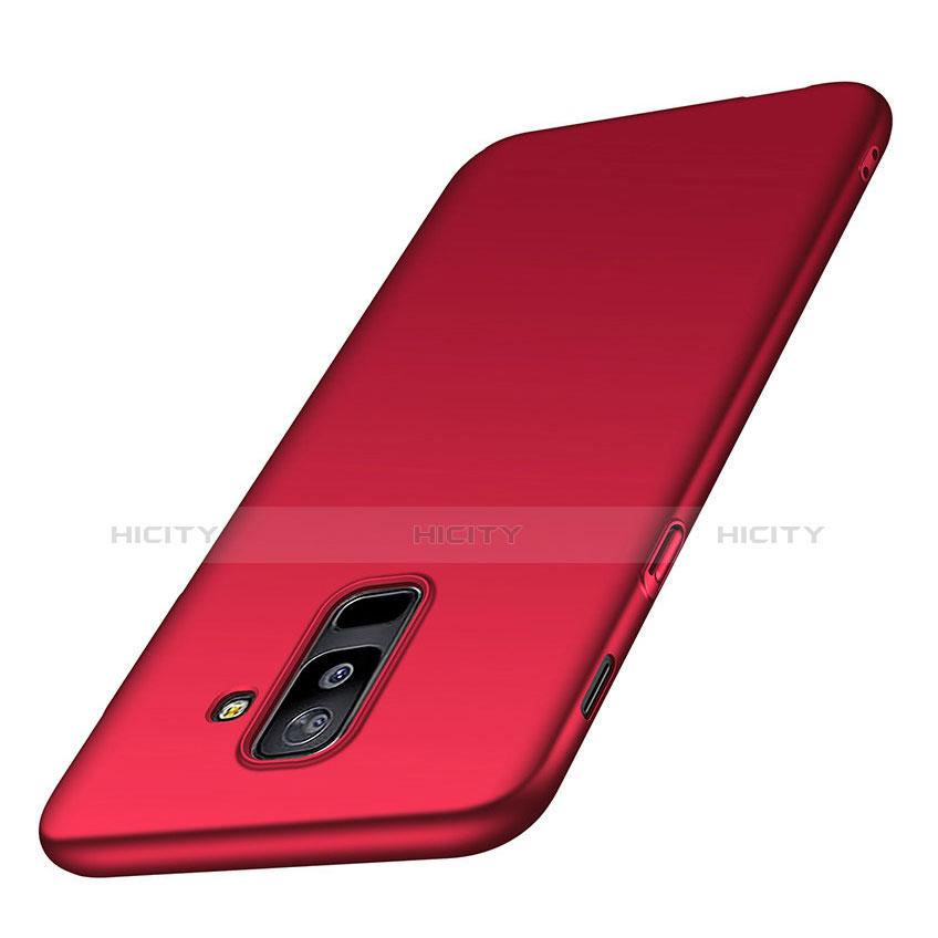 Samsung Galaxy A6 Plus用ハードケース プラスチック 質感もマット M02 サムスン レッド
