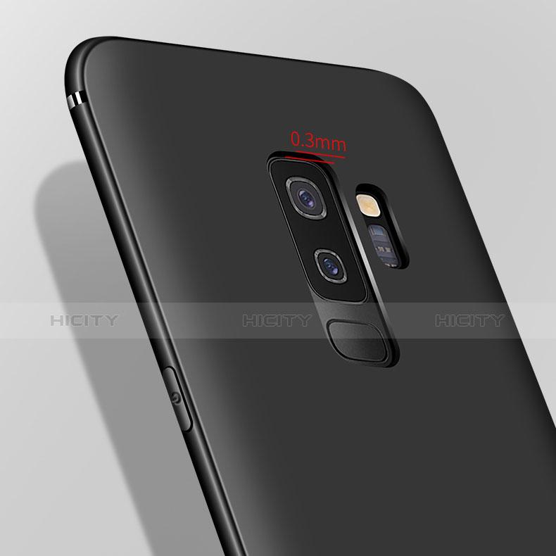 Samsung Galaxy A6 Plus用極薄ソフトケース シリコンケース 耐衝撃 全面保護 S03 サムスン ブラック
