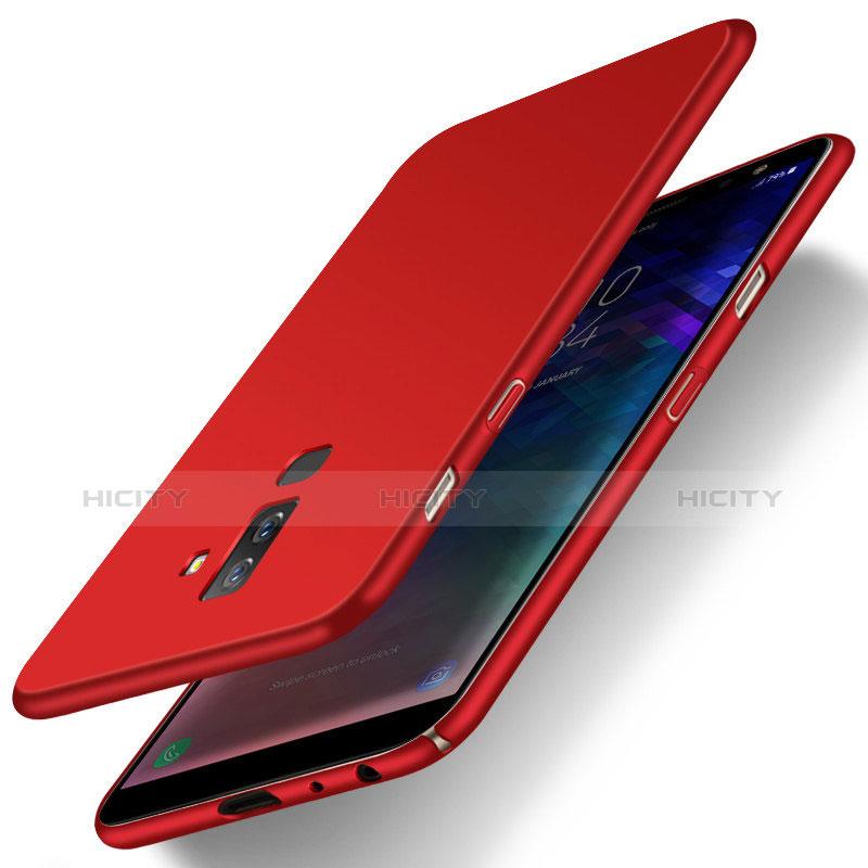 Samsung Galaxy A6 Plus用ハードケース プラスチック 質感もマット M04 サムスン レッド