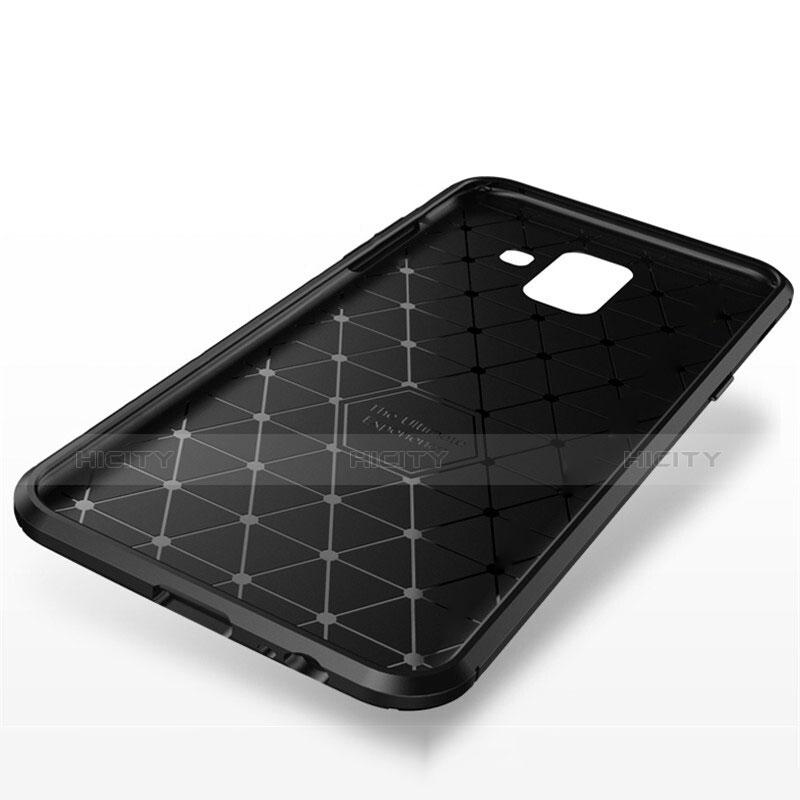 Samsung Galaxy A6 Plus用シリコンケース ソフトタッチラバー ツイル カバー サムスン