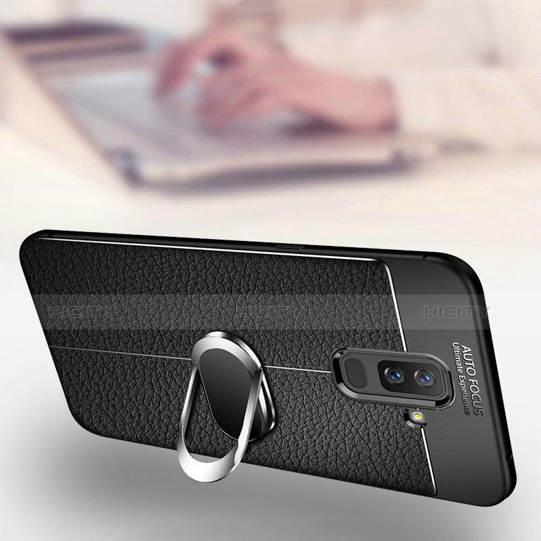 Samsung Galaxy A6 Plus用極薄ソフトケース シリコンケース 耐衝撃 全面保護 アンド指輪 マグネット式 バンパー サムスン