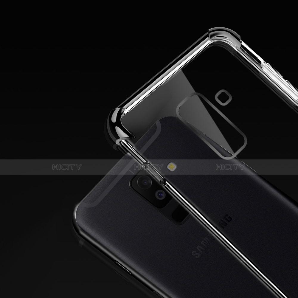 Samsung Galaxy A6 Plus用極薄ソフトケース シリコンケース 耐衝撃 全面保護 クリア透明 H01 サムスン