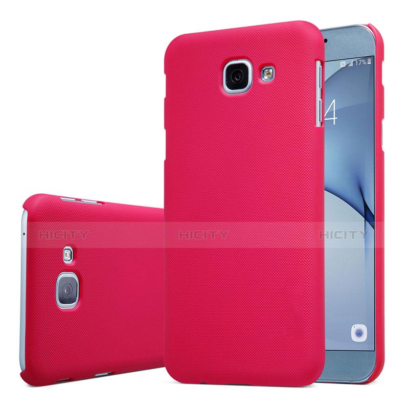 Samsung Galaxy A8 (2016) A8100 A810F用ハードケース プラスチック 質感もマット M01 サムスン レッド