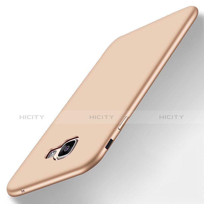Samsung Galaxy A8 (2016) A8100 A810F用極薄ソフトケース シリコンケース 耐衝撃 全面保護 S01 サムスン ゴールド