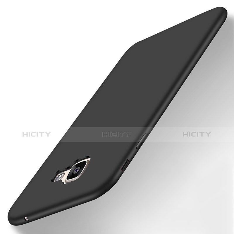Samsung Galaxy A8 (2016) A8100 A810F用極薄ソフトケース シリコンケース 耐衝撃 全面保護 S01 サムスン ブラック
