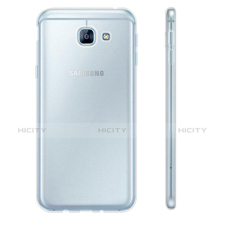 Samsung Galaxy A8 (2016) A8100 A810F用極薄ソフトケース シリコンケース 耐衝撃 全面保護 クリア透明 カバー サムスン クリア