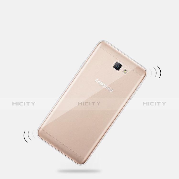 Samsung Galaxy A8 (2016) A8100 A810F用極薄ソフトケース シリコンケース 耐衝撃 全面保護 クリア透明 T03 サムスン クリア