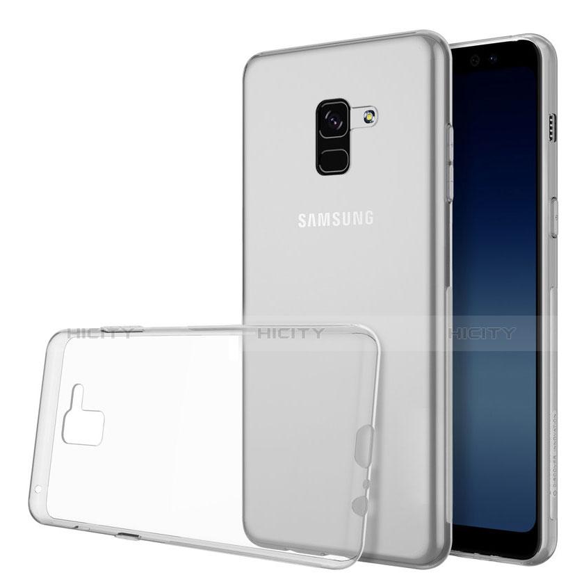 Samsung Galaxy A8 (2018) A530F用極薄ソフトケース シリコンケース 耐衝撃 全面保護 クリア透明 カバー サムスン クリア