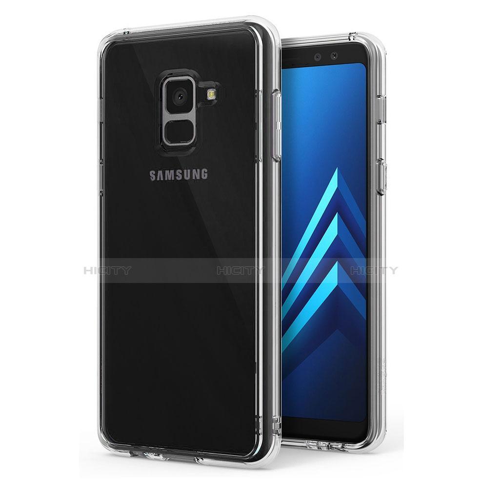Samsung Galaxy A8 (2018) A530F用極薄ソフトケース シリコンケース 耐衝撃 全面保護 クリア透明 T02 サムスン クリア