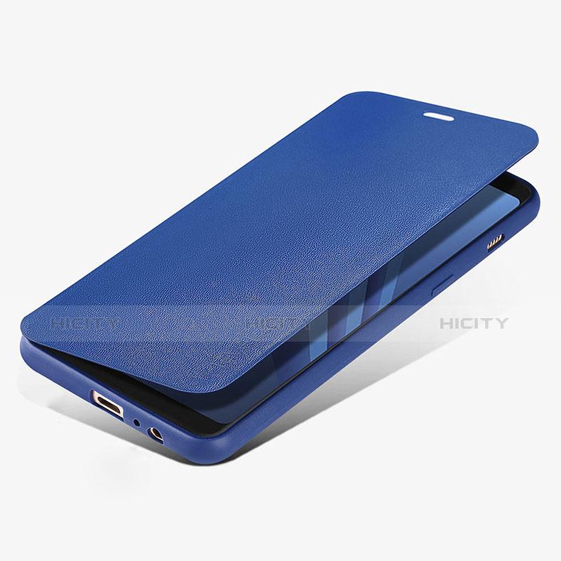 Samsung Galaxy A8 (2018) Duos A530F用手帳型 レザーケース スタンド L02 サムスン ネイビー
