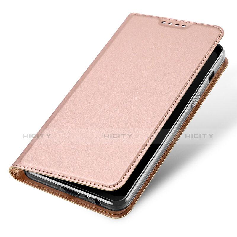 Samsung Galaxy A8 (2018) Duos A530F用手帳型 レザーケース スタンド サムスン ローズゴールド