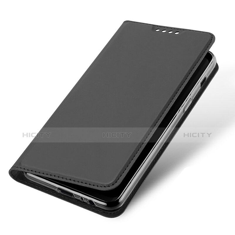 Samsung Galaxy A8 (2018) Duos A530F用手帳型 レザーケース スタンド サムスン ブラック