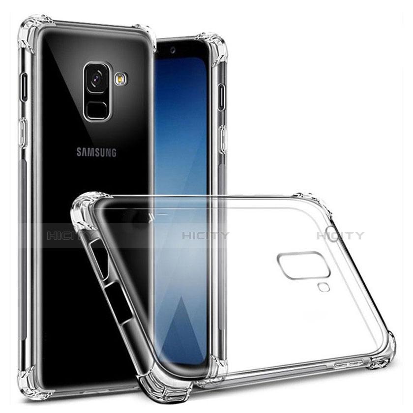 Samsung Galaxy A8+ A8 Plus (2018) A730F用極薄ソフトケース シリコンケース 耐衝撃 全面保護 クリア透明 T03 サムスン クリア